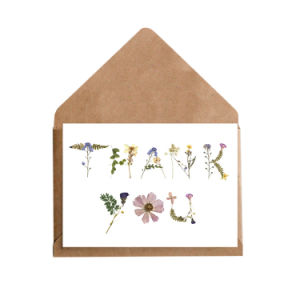 Hot Selling Custom Kraft Thank You Card for Invitation
