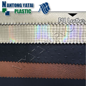 Printed High Abrasion PU Coated Leather for Office Furniture