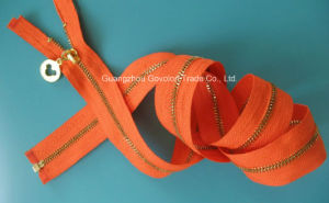 Open-End Metal Zipper/Long Chain Style pictures & photos