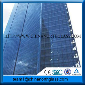 Standard Size Blue Reflective Tempered Glass Supplier pictures & photos