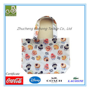 Cake Print Oxford Tote/Hand Bag