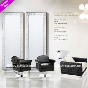 Styling Chair, Shampoo Chair, Washing Unit, Salon Chair, Barber Chair, Mirror Station, Hairdressing Chair (Package Deal NP214)