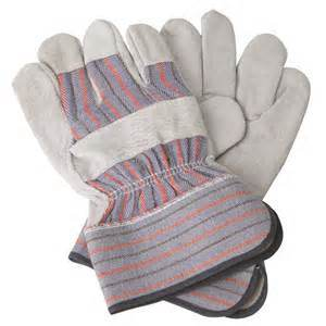 Leather Full Palm Labor Gloves Safety Products