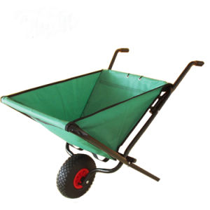 UK Garden Folding Wheel Barrow Lightweight Trolley Wheelbarrow
