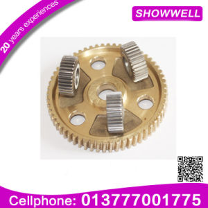 Precision Small Stainless Steel Spur Gear, Metal Double Spur Gear for Machine Planetary/Transmission/Starter Gear