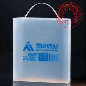 Fancy Design Foldable&Movable Clear Plastic Box Bags with Handle