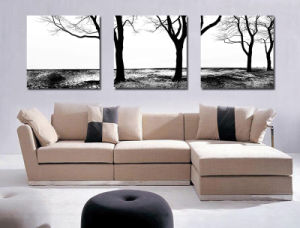 Modern Black And White Canvas Prints 3 Pieces Wall Art