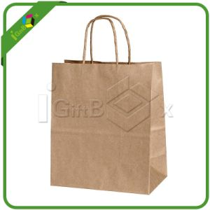 Twist Brown Kraft Paper Bags pictures & photos