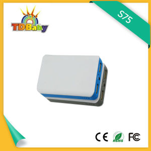 6000mAh White Portable Power Bank with 5V/1A