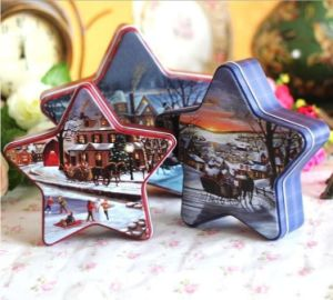 New Designed Star Shape Tin Gift Box