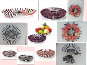 Plastic DIY Vegetable Fruit Dish (VK14004)