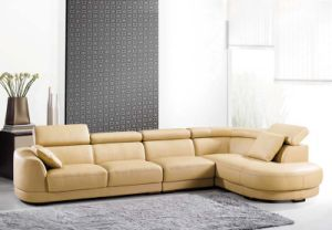 Leather PU Modern Set Corner Sofa Bed (910#) pictures & photos