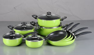 14PCS Pressed Aluminum Non-Stick Cookware Set