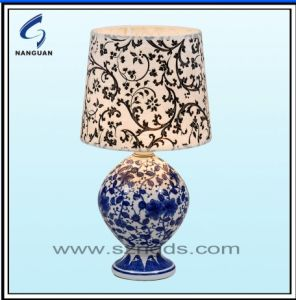 China touch table lamp with ceramic base and fabric shade in touch table lamp with ceramic base and fabric shade in economic range ng e34 aloadofball Choice Image