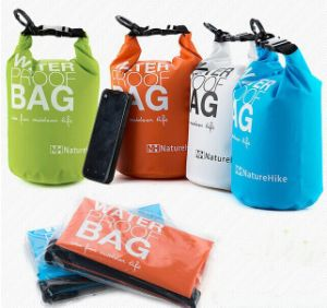 Hot PVC 100% Waterproof Dry Bag with Double Shoulder Strap