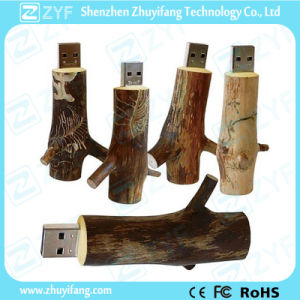 Environmental Natural Maple Wood Branch USB Pen Drive (ZYF1355)