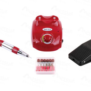 Electric Acrylic Nail Drill File Machine 25000 Rpm Sand Bits Manicure Kit Micro-Controlled