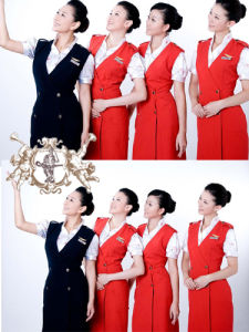 Airlines Uniform for Ladies in New Design pictures & photos