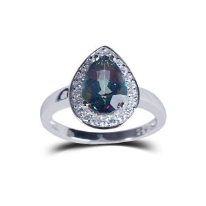 925 Silver Classic Minimalist Purple Heart-Shaped Birthday Jewelry Natural Stone Jewelry Ring