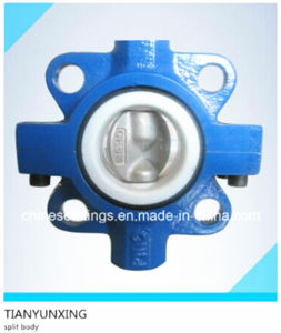 Wafer Butterfly Valve with Split Body Double Stem pictures & photos
