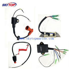 Outboard Electrical Parts for YAMAHA/Suzuki/Tohatsu (CDI/Ignition  coil/Lighting coil/Change coi/Stop switch assy/Spark plug/Rectifier®ulator