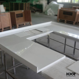 Kingkonree Customized Solid Surface Corian Coffee Shop Counter Design pictures & photos