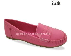 China New Design Girls PU Loafer Dress