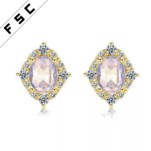 Latest Design Elegant Stud Earrings Silver Plated Lesse For Las