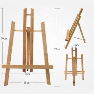 china 30cm beech display easel high quality mini canvas easel