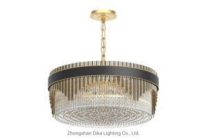 Modern Customize Luxurious Living Room, Hotel Home Decoration Light Gold K9 Crystal Chandelier (BL904-600PC-A)