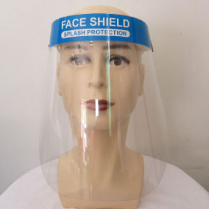 High Quality Pet Plastic Full Face Shield Mask Cover Anti-Fog Face+Shield Protective Mask Shield
