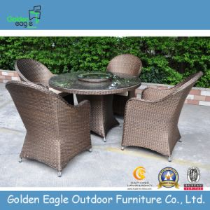 New Wicker Dining Sets-Round Table and Chairs (Fp0218)