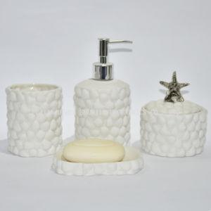 China White Ceramic Bathroom Accessory Set China Bathroom Set