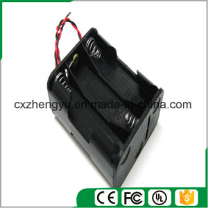 6*C Battery Holder with Red/Black Wire Leads