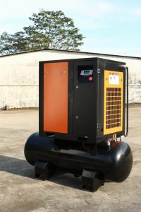 32cfm 10bar Small Screw Air Compressor with Tank pictures & photos