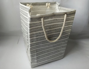 Canvas Laundry Bag with 2 Rope Handle and PE Coating Inside