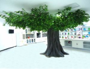 china high quality customize shape artificial banyan ficus tree for