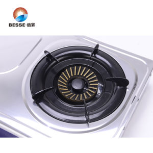Classic Double Burner Gas Stove, Stainless Steel Material pictures & photos