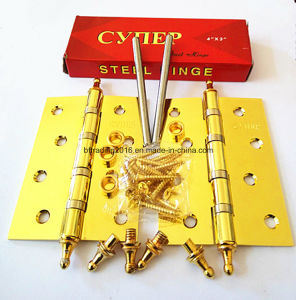 "5"" Crown Type Steel Hinges with Golden Color Factory Offer pictures & photos"