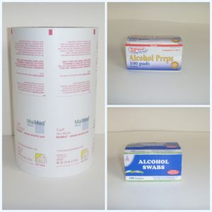 Printed & Laminated Aluminium Foil Paper for Alcohol Prep Pad and Cleaning Tissue\Alcohol pictures & photos