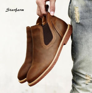 Men Genuine Leather Espadrilles Shoes