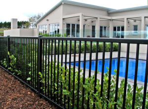Rust-Proof Black Powder Coated Pool Garden Fence pictures & photos