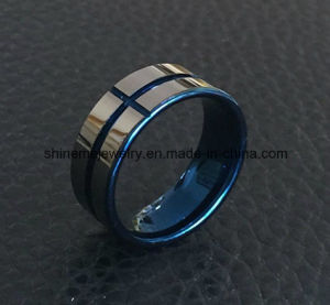 Shineme Jewelry High Quality Blue Plated Tungsten Ring Jewelry (TST2871) pictures & photos