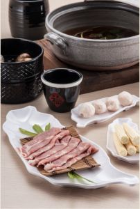 100% Melamine Dinner Ware/Melamine Bamboo Basket/Plate (QQ420) pictures & photos