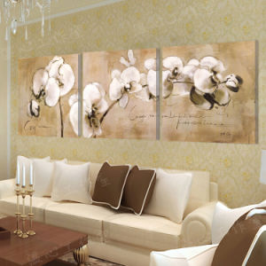 3 Piece Modern Wall Art Printed Painting Flowers Room Decor Framed Picture Painted On