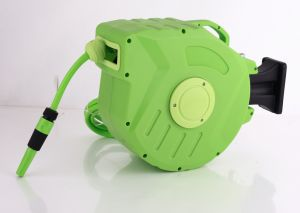Automatic Garden Hose Reel, Made of Mesh PVC, with 8 X 12mm or 1/2-Inchx25 or 30m