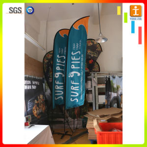 High Quality Custom Design Feather Flags, Telescopic Beach Flag pictures & photos