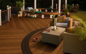 Outdoor Engineered Wood-Plastic Composite Flooring / WPC Deck Flooring pictures & photos