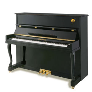 High Quality Emperor Black Polished Upright Pianos