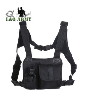 Universal Hands Free Chest Pocket Harness Bag Holster Holder Vest Rig for Two Way Radio